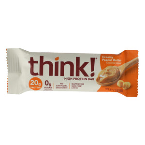 Think Products Thin Bar - Creamy Peanut Butter - Case Of 10 - 2.1 Oz - Vita-Shoppe.com