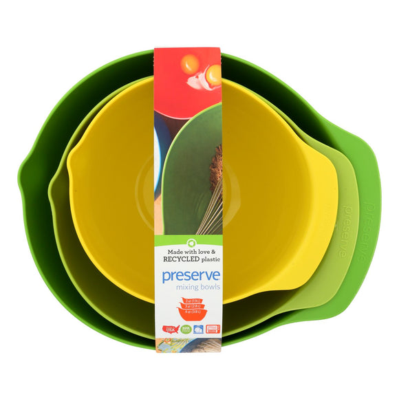 Preserve Mixing Bowl Set - Case Of 4 - 3 Bowls Per Set - Vita-Shoppe.com