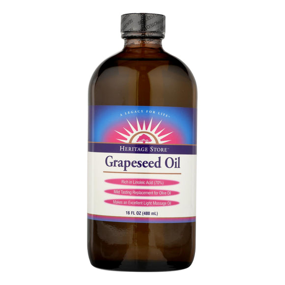 Heritage Products Grapeseed Oil - 16 Fl Oz - Vita-Shoppe.com