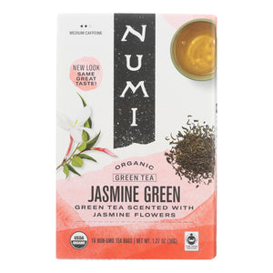 Numi Organic Tea Jasmine Green - 18 Tea Bags - Case Of 6 - Vita-Shoppe.com