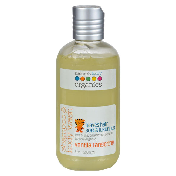 Nature's Baby Organics Shampoo And Body Wash Vanilla Tangerine - 8 Fl Oz - Vita-Shoppe.com