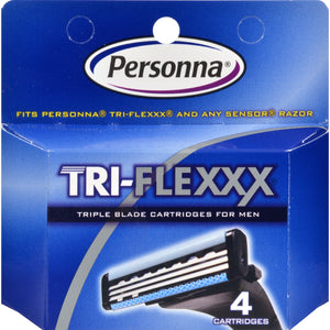 Personna Tri-flexxx Razor System For Men Cartridge Refill - 4 Cartridges - Vita-Shoppe.com
