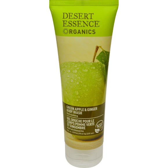 Desert Essence Body Wash Green Apple And Ginger - 8 Fl Oz - Vita-Shoppe.com