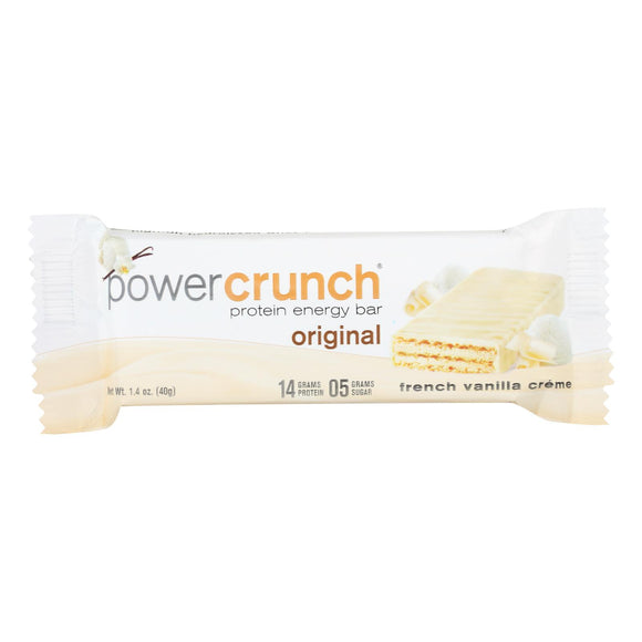 Power Crunch Bar - French Vanilla Cream - Case Of 12 - 1.4 Oz - Vita-Shoppe.com