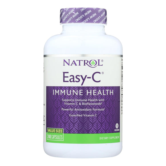 Natrol Easy-c With Bioflavonoids - 500 Mg - 240 Vegetarian Capsules - Vita-Shoppe.com