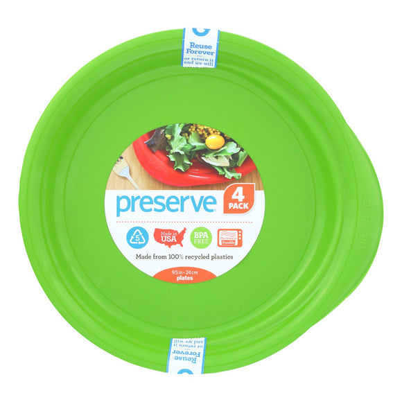 Preserve Everyday Plates - Apple Green - Case Of 8 - 4 Pack - 9.5 In - Vita-Shoppe.com