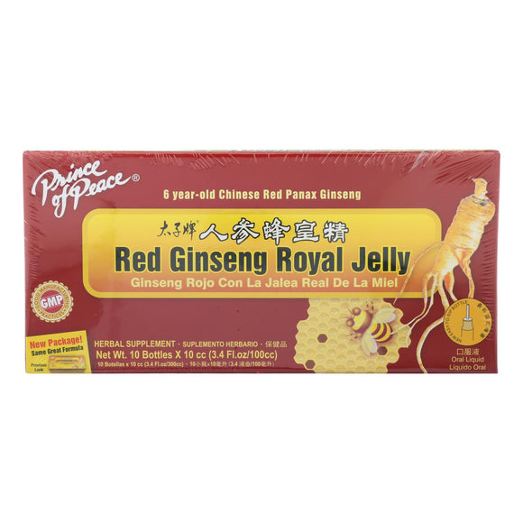 Prince Of Peace Red Ginseng - Royal Jelly - 10 Cc - 10 Count - Vita-Shoppe.com