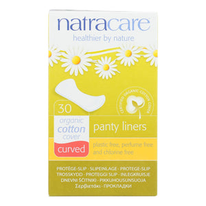 Natracare Natural Curved Panty Liners - 30 Pack - Vita-Shoppe.com