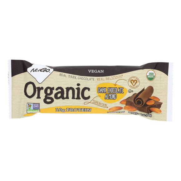 Nugo Nutrition Bar - Organic Dark Chocolate Almond - 1.76 Oz - Case Of 12 - Vita-Shoppe.com