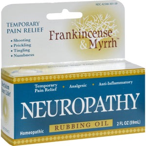 Frankincense And Myrrh Neuropathy Rubbing Oil - 2 Fl Oz - Vita-Shoppe.com