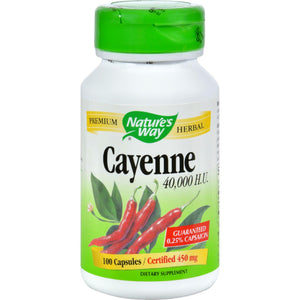 Nature's Way Cayenne And Pepper - 450 Mg - 100 Capsules - Vita-Shoppe.com