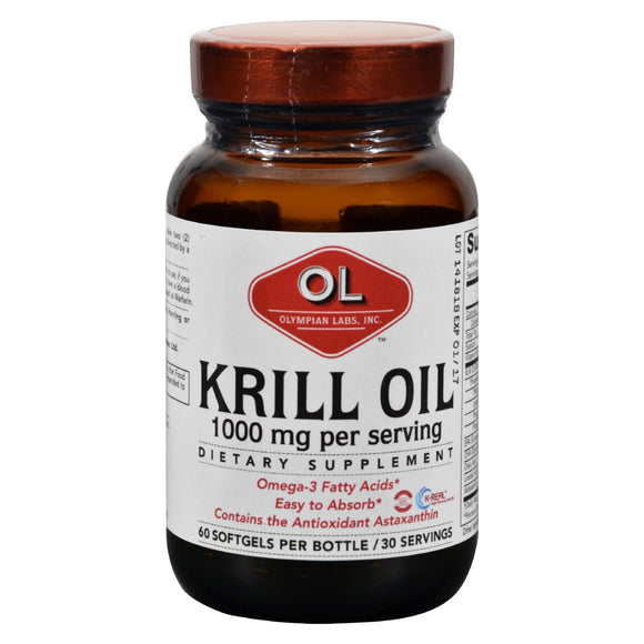 Olympian Labs Krill Oil - 1000 Mg - 60 Softgels - Vita-Shoppe.com