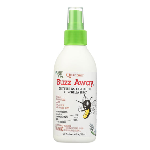 Quantum Research Buzz Away Insect Repellent Citronella Spray - 6 Oz - Vita-Shoppe.com