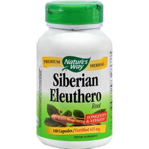 Nature's Way Siberian Eleuthero Root - 100 Capsules - Vita-Shoppe.com