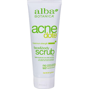 Alba Botanica Natural Acnedote Face And Body Scrub - 8 Fl Oz