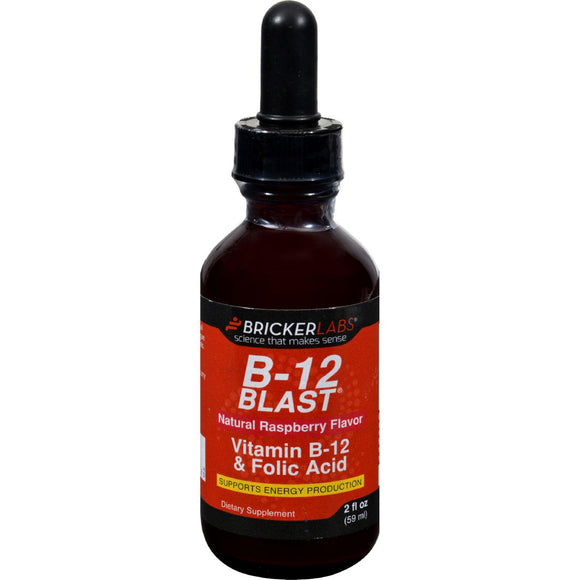 Bricker Labs Blast B12 Vitamin B12 And Folic Acid - 2 Fl Oz - Vita-Shoppe.com