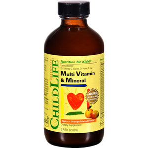 Childlife Multi Vitamin And Mineral Natural Orange Mango - 8 Fl Oz - Vita-Shoppe.com
