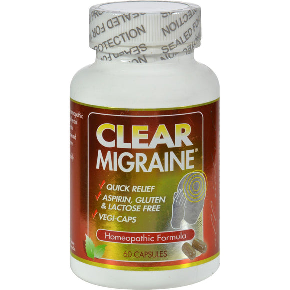 Clear Products Clear Migraine - 60 Capsules - Vita-Shoppe.com