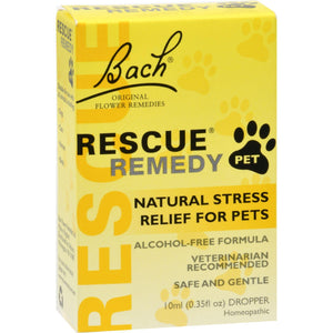 Bach Flower Remedies Rescue Remedy Stress Relief For Pets - 10 Ml - Vita-Shoppe.com