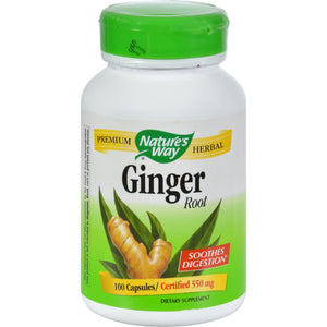 Nature's Way Ginger Root - 100 Capsules - Vita-Shoppe.com