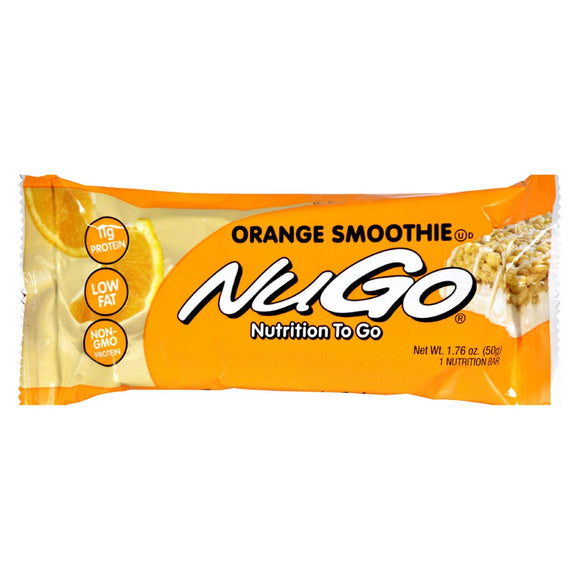 Nugo Nutrition Bar - Orange Smoothie - Case Of 15 - 1.76 Oz - Vita-Shoppe.com