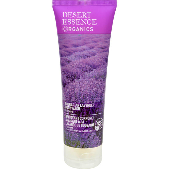 Desert Essence Body Wash Bulgarian Lavender - 8 Fl Oz - Vita-Shoppe.com