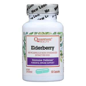 Quantum Elderberry Immune Defense Supplement - 400 Mg - 60 Capsules - Vita-Shoppe.com