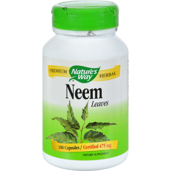 Nature's Way Neem - 475 Mg - 100 Capsules - Vita-Shoppe.com