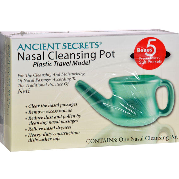 Ancient Secrets Nasal Cleansing Neti Pot - Plastic - 1 Pot - Vita-Shoppe.com