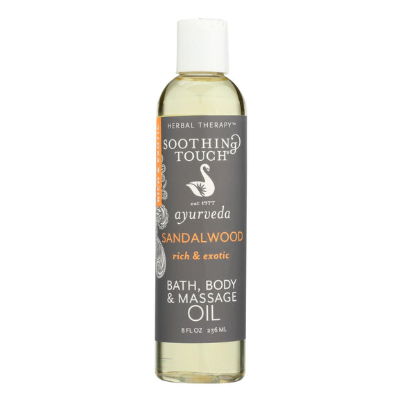 Soothing Touch Bath And Body Oil - Sandalwood - 8 Oz - Vita-Shoppe.com