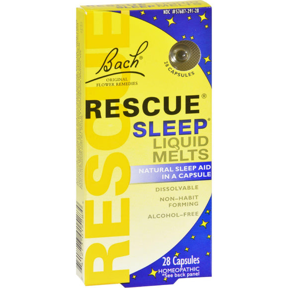 Bach Flower Remedies Rescue Sleep Liquid Melts - 28 Capsules - Vita-Shoppe.com