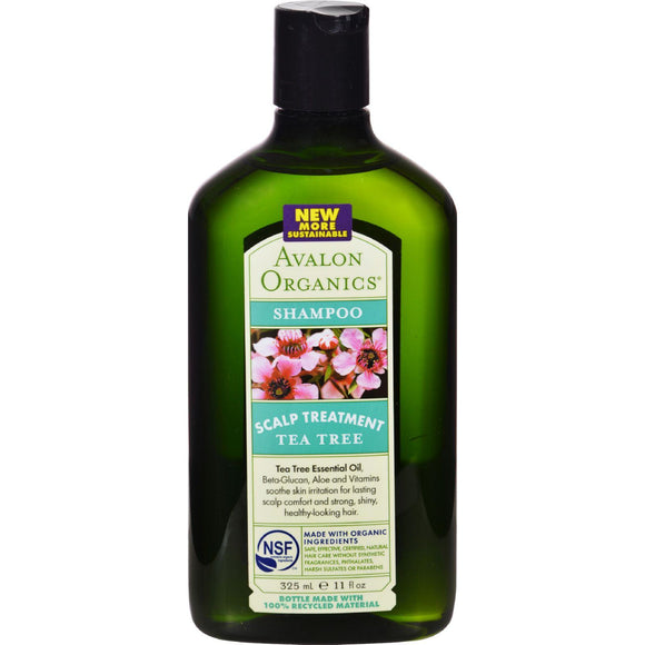Avalon Organics Scalp Treatment Tea Tree Shampoo - 11 Fl Oz - Vita-Shoppe.com