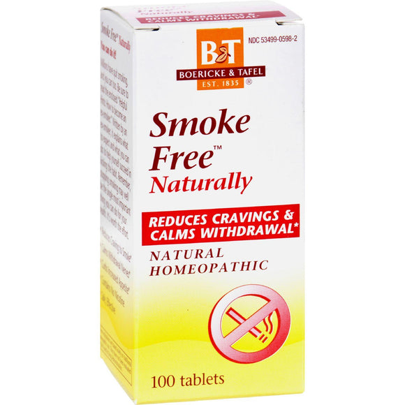 Boericke And Tafel Smoke Free Naturally - 100 Tablets - Vita-Shoppe.com