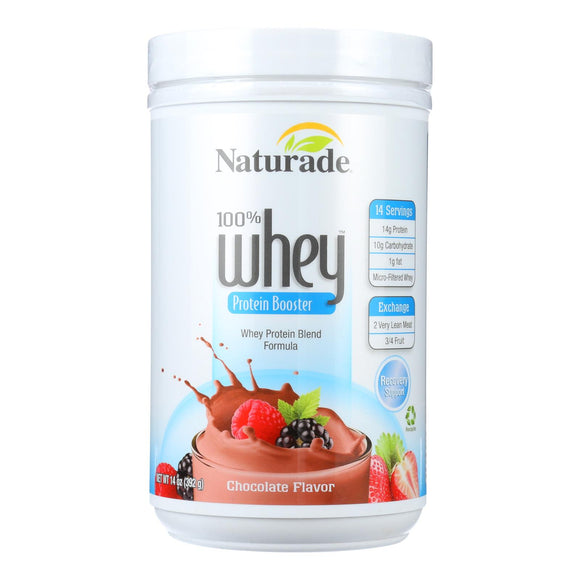 Naturade Whey Protein Booster Chocolate - 14 Oz - Vita-Shoppe.com