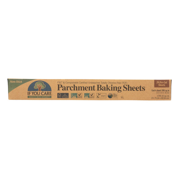 If You Care Parchment Baking Sheet - Paper - Case Of 12 - 24 Count - Vita-Shoppe.com