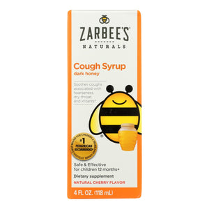 Zarbee's All-natural Children's Cough Syrup 12 Months+ - Natural Cherry Flavor - 4 Oz - Vita-Shoppe.com