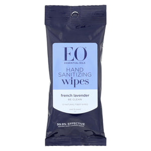 Eo Products Hand Sanitizer Wipes - Lavender - Case Of 6 - 10 Pack - Vita-Shoppe.com