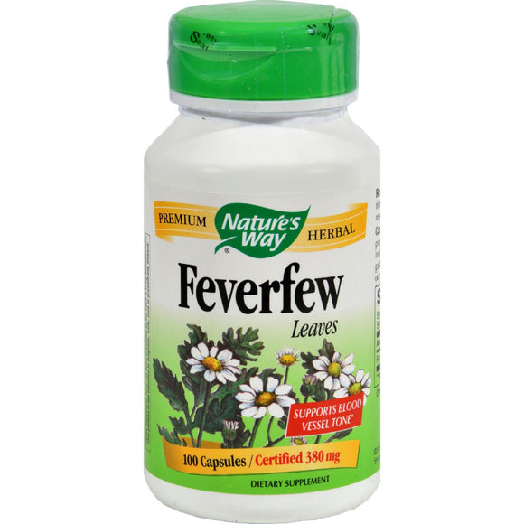 Nature's Way Feverfew Leaves - 100 Capsules - Vita-Shoppe.com