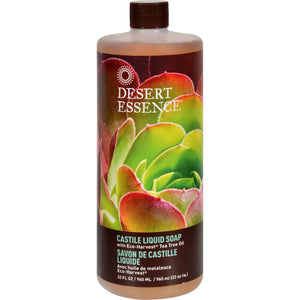 Desert Essence Castile Liquid Soap With Eco-harvest Tea Tree Oil - 32 Fl Oz - Vita-Shoppe.com