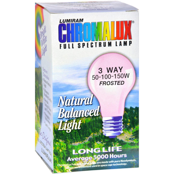 Chromalux Lumiram Full Spectrum 3 Way 50-100-150 Watts - Frosted - 1 Light Bulb - Vita-Shoppe.com
