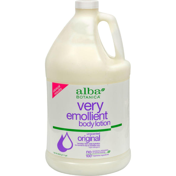 Alba Botanica Very Emollient Body Lotion Original Unscented - 1 Gallon - Vita-Shoppe.com