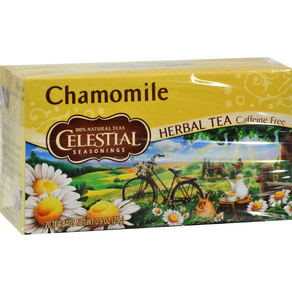 Celestial Seasonings Herbal Tea - Chamomile - Caffeine Free - Case Of 6 - 20 Bags - Vita-Shoppe.com