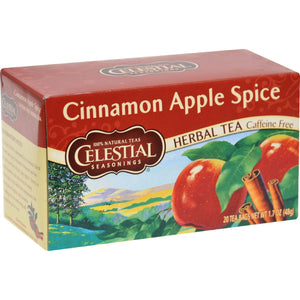 Celestial Seasonings Herbal Tea Caffeine Free Cinnamon Apple Spice - 20 Tea Bags - Case Of 6 - Vita-Shoppe.com
