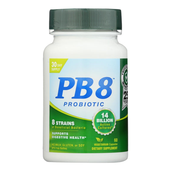 Nutrition Now Pb 8 Pro-biotic Acidophilus For Life - 500 Mg - 60 Vegetarian Capsules - Vita-Shoppe.com