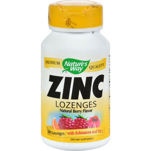 Nature's Way Zinc Lozenges Natural Berry - 60 Capsules - Vita-Shoppe.com
