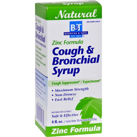 Boericke And Tafel Cough And Bronchitis Syrup With Zinc - 4 Oz - Vita-Shoppe.com