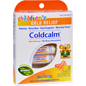 Boiron Children's Cold Calm Pellets - 2 Doses - Vita-Shoppe.com