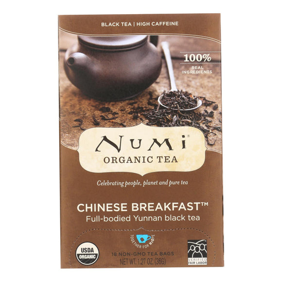 Numi Tea Organic Chinese Breakfast - Black Tea - 18 Bags - Vita-Shoppe.com