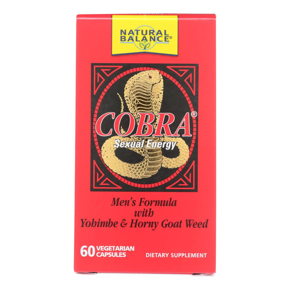 Natural Balance Cobra Sexual Energy - 60 Vegetarian Capsules - Vita-Shoppe.com