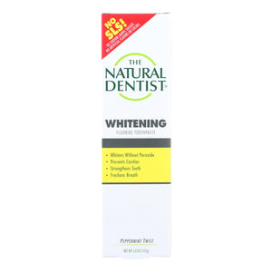 Natural Dentist Healthy Teeth And Gums Whitening Toothpaste Peppermint Twist - 5 Oz - Vita-Shoppe.com